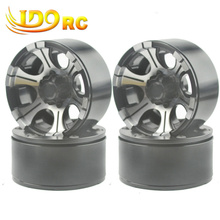 1/10 scale RC car Crawler 1.9″ Beadlock Alloy Spoke Wheels/Rims RC4WD 4pcs