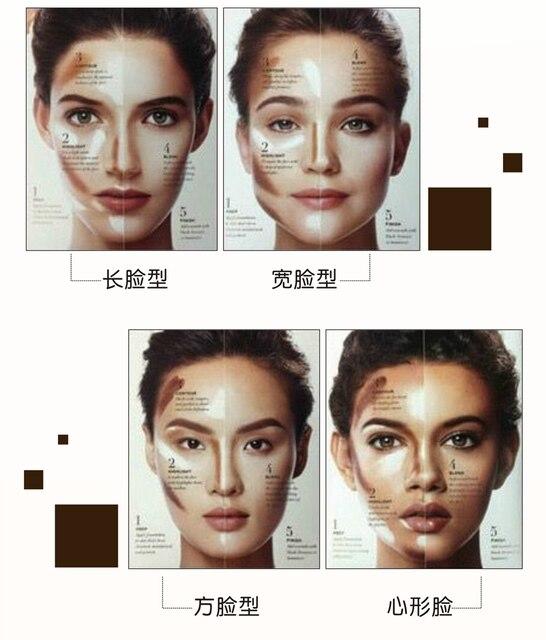 Professional Ladies Makeup Face Blush Contour Highlighter Stick Foundation Make Up Bronzer Base Concealer Pencil Maquiagem 5