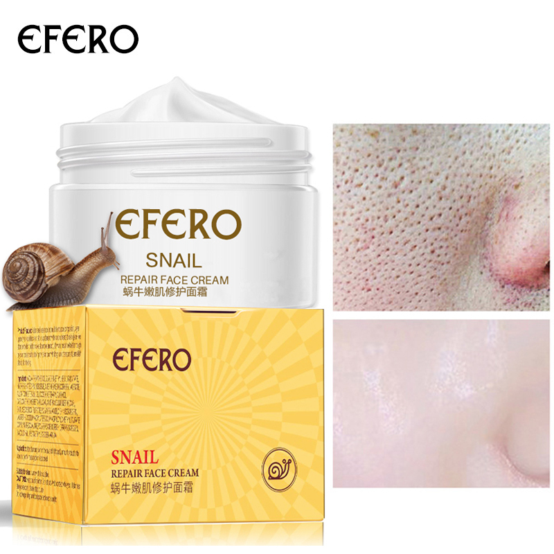 EFERO Anti Aging Snail Essence Face Cream Whitening Snail Cream Serum Moist Nourishing Lifting Face Skin Care Anti Wrinkle TSLM1
