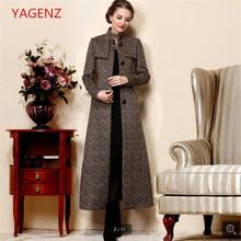 Calidad Superior Cachemira mujeres otoño capa de polvo de gran tamaño nuevo  100% moda largo abrigo telas de alto grado mujeres r. 59b070654be3