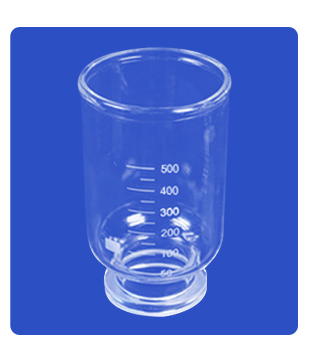 500ml Lab Vacuum Filtration Cup Beaker For 2000ml Vacuum Filtration Apparatus Membrane Filter Sand-Core Filter Equipment