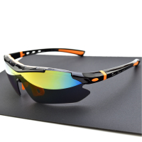 Polarized Cycling Glasses Bike Sport Sunglasses Bicycle Eyewear MTB Goggle 5 Lens With Myopia Frame