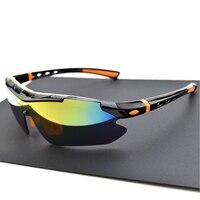 Polarized Cycling Glasses Bike Sport Sunglasses Bicycle Eyewear MTB Goggle 5 Lens With Myopia Frame