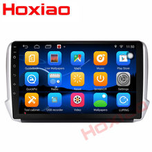 "Pour Peugeot 2008 208 android voiture 2 din radio GPS Navi 4 Core 9 ""WIFI voiture Android multimédia 2din voiture lecteur dvd(China)"
