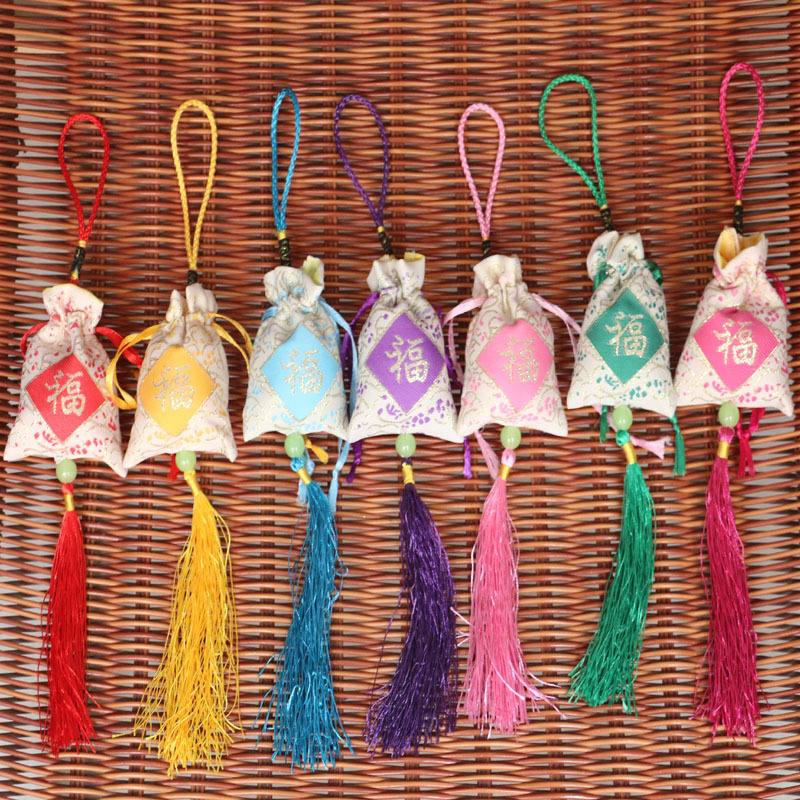 5Pcs Traditional Chinese Medicine Spice Fragrance Sachet Bag Car Wardrobe Incense Pulling Type Peace Sachets Sachet
