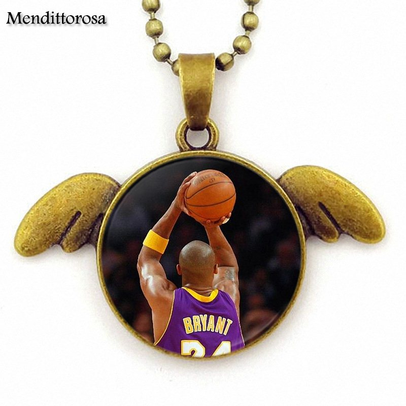 Russell Westbrook Vince Carter Kerry For Men Women Party Gift Fashion Jewelry Cabochon Glass Bronze Angel Wings Pendant Necklace