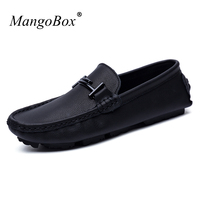 Fashion New Italy Designer Mens Casual Shoes Black Brand Pig Split Leather Male Loafers Trainers Comfortable