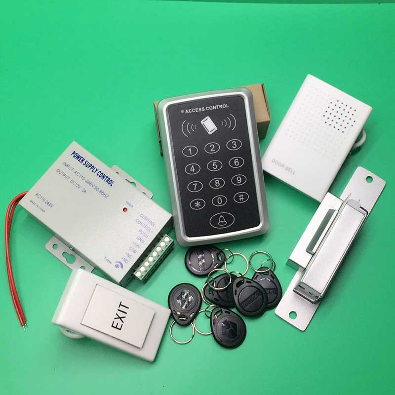 DIY Full Complete 125KHz Rfid Card Door Access Control Door Security System Kit with Fail Safe NC Electric Strike LockDIY Full Complete 125KHz Rfid Card Door Access Control Door Security System Kit with Fail Safe NC Electric Strike Lock