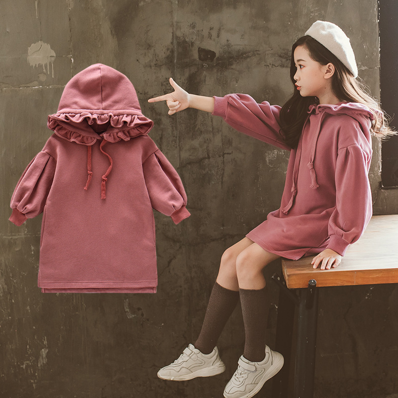 school sweatshirts kids winter girl dresses with pockets hoodies hooded autumn velvet dress for girls long sleeve tops clothing free shipping new fashion plus size s l stretch velour dresses for women long maxi one piece dress spring autumn velvet hoodies