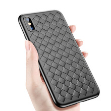 Weave Mesh TPU Case For Iphone X 6 6s 7 8 Plus Cover Silicone Rubber Soft Shell For Iphone XR XS Max Phone Cases Fundas