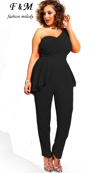 Women Jumpsuits 2016 Womens Sexy One Shoulder Patchwork
