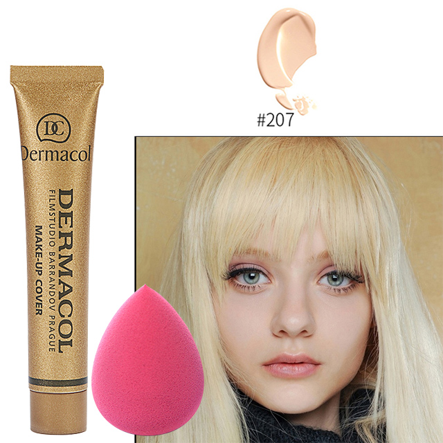Dermacol Original Face Foundation Make Up Concealer High Cover Make Up Concealer Foundation Cream 30g Makeup Sponge Blow все цены