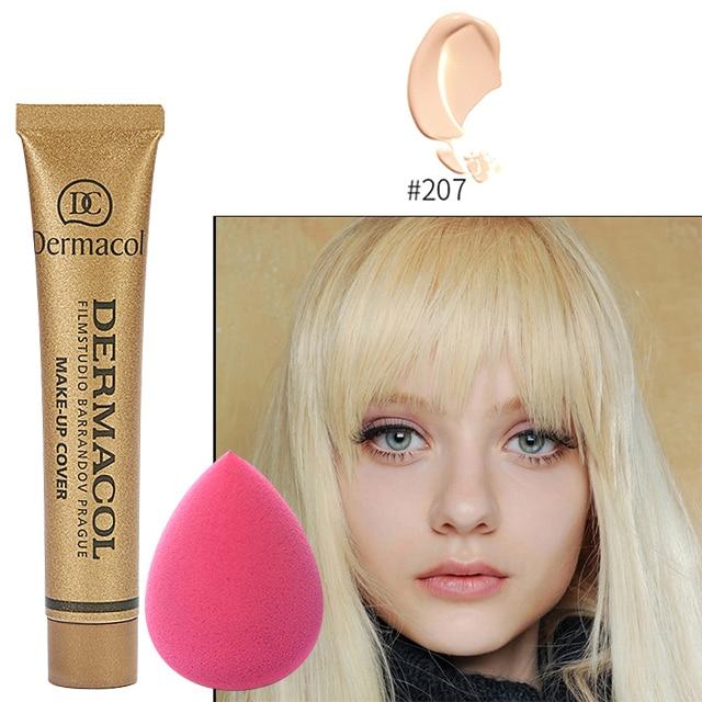 Dermacol Original Face Foundation Make Up Concealer High Cover Make Up Concealer Foundation Cream 30g Makeup Sponge Blow недорого