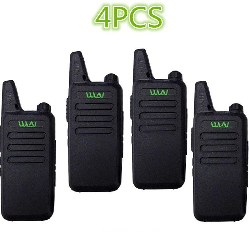 4 pièces WLN KD-C1/KD-C2Walkie Talkie UHF 400-470 MHz 5W puissance 16 canaux Kaili MINI émetteur-récepteur portable C1 Radio bidirectionnelle C2