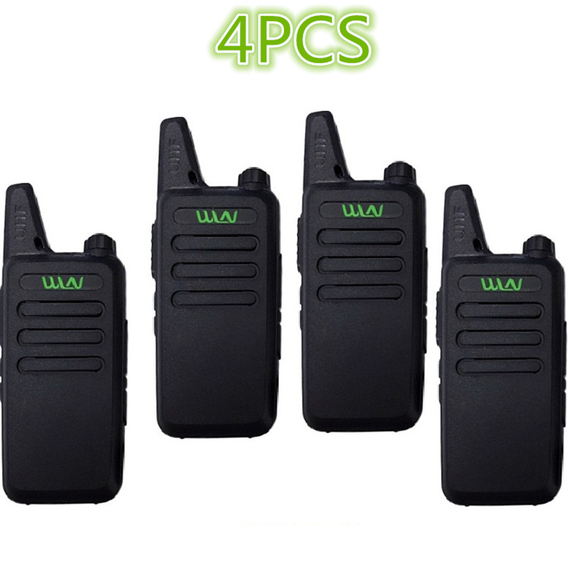 4PCS WLN KD-C1/KD-C2Walkie Talkie UHF 400-470 MHz 5W Power 16 Channel  Kaili MINI Handheld Transceiver C1 Two Way Radio C2