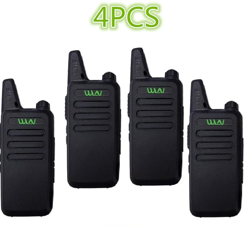 4PCS WLN KD-C1/KD-C2Walkie Talkie UHF 400-470 MHz 5W Power 16 Channel  Kaili MINI Handheld Transceiver C1 Two Way Radio C2