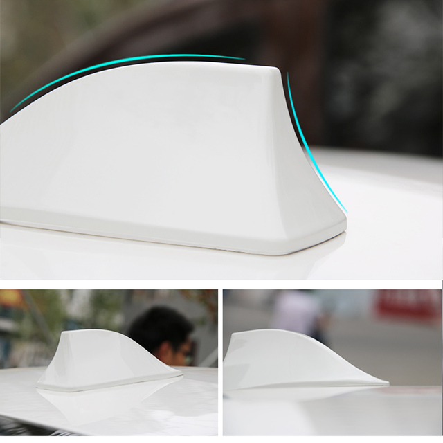 New Arrival Shark Fin Antenna Auto Radio Signal Aerials Roof Antennas for All car models Free shipping