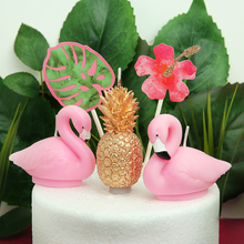 flamingo candle cake birthday decoration supplies women girls decorating party decorations