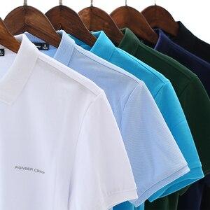 Image 2 - Пионерский лагерь, брендовая одежда, мужская рубашка поло, мужская деловая Повседневная однотонная мужская рубашка поло с коротким рукавом, высокое качество, чистый хлопок
