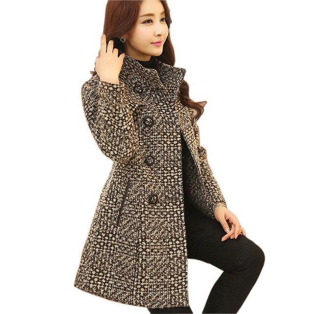 Elegant Plaid Turtleneck Coat 6