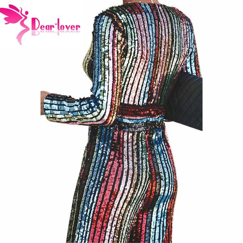 Profonde Amant Salopette Rayé Manches Nouveau Cher À Haute cou Lc64471 V Pour Multi Taille 2019 Femmes Parti Coloré Élégant Sequin Barboteuses Longues 7xw4nd