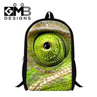 Stylish chameleon 3D Printed bookbags for primary student,boys cool school backpacks,design day pack,fashion back pack for women
