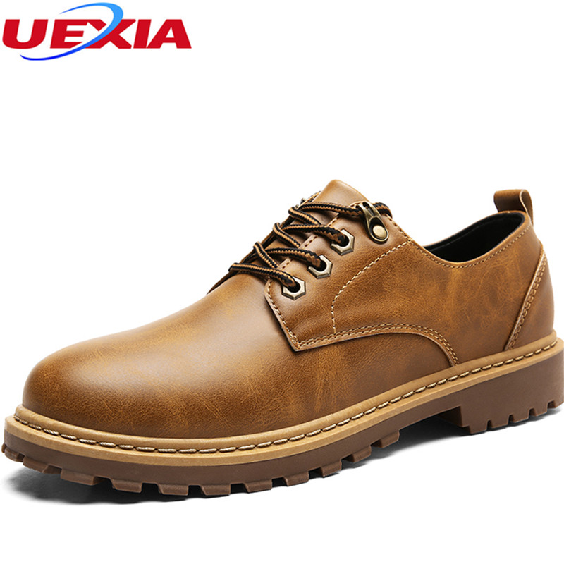 Fashion Business Casual Dress Shoes Men Crazy Leather