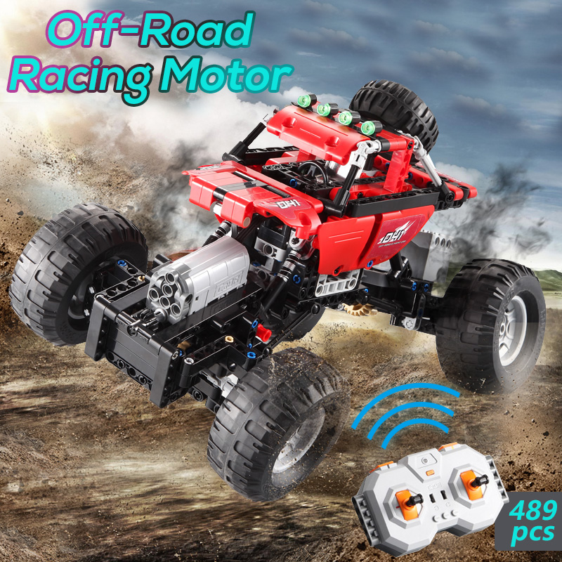 CaDA Building Blocks Off-Road Car Toy Remote Control Stable Car Structure Racing Modes Assembling Legoing with Legoed TechnicCaDA Building Blocks Off-Road Car Toy Remote Control Stable Car Structure Racing Modes Assembling Legoing with Legoed Technic