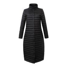 2017 Winter Jacket Women Coat Female Fashion Warm Outwear thin white duck Down Cotton-Padded Long Wadded Jacket Coat Parka