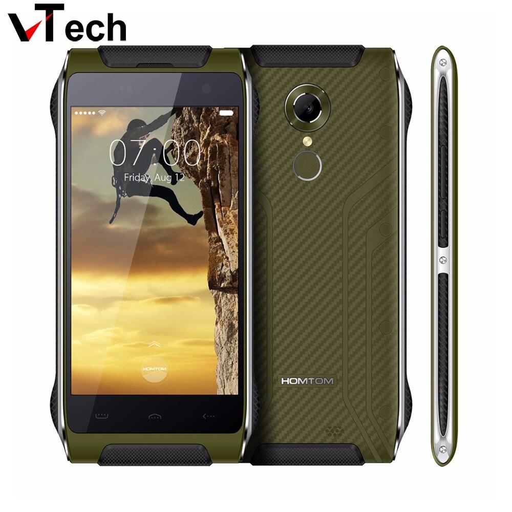 Galleria fotografica HOMTOM HT20 4G ID Impronte Digitali Impermeabile Antiurto <font><b>Smartphone</b></font> Android 6.0 MT6737 Quad Core Cellulare 2 GB + 16 GB 8MP Cellulare