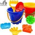6 pçs/lote 14*17 cm Adorável Brinquedo Praia Criança Grande balde conjunto Bonito Grandes Ferramentas Ampulheta de Areia Brinquedos para o Banho conjunto de verão venda quente