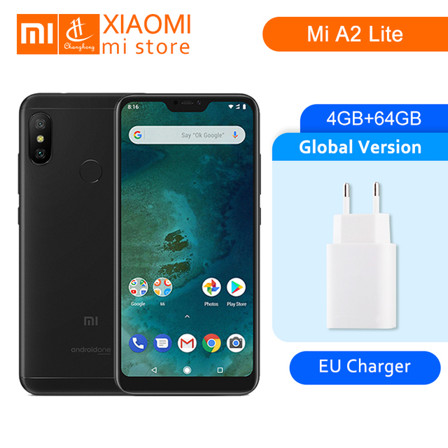 "Versión Global Xiaomi mi A2 Lite 4 GB 64 GB 5,84 ""Pantalla 19:9 4000 mAh Snapdragon 625 Octa Core 12MP + 5MP Android un teléfono móvil"