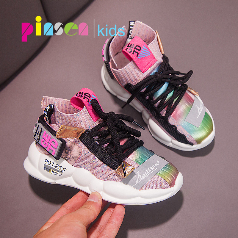 2019 Autumn Kids sneakers Girls shoes Boys Fashion Casual Children Shoes for Girl Sport Running Child Shoes Chaussure Enfant-in Sneakers from Mother & Kids