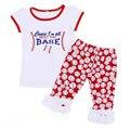 Muchachos de la Ropa de Béisbol de Verano Boutique Outfit Camisa de Manga Corta Traje Polainas de La Colmena Ropa de Béisbol Ropa de Bebé Para Recién Nacidos