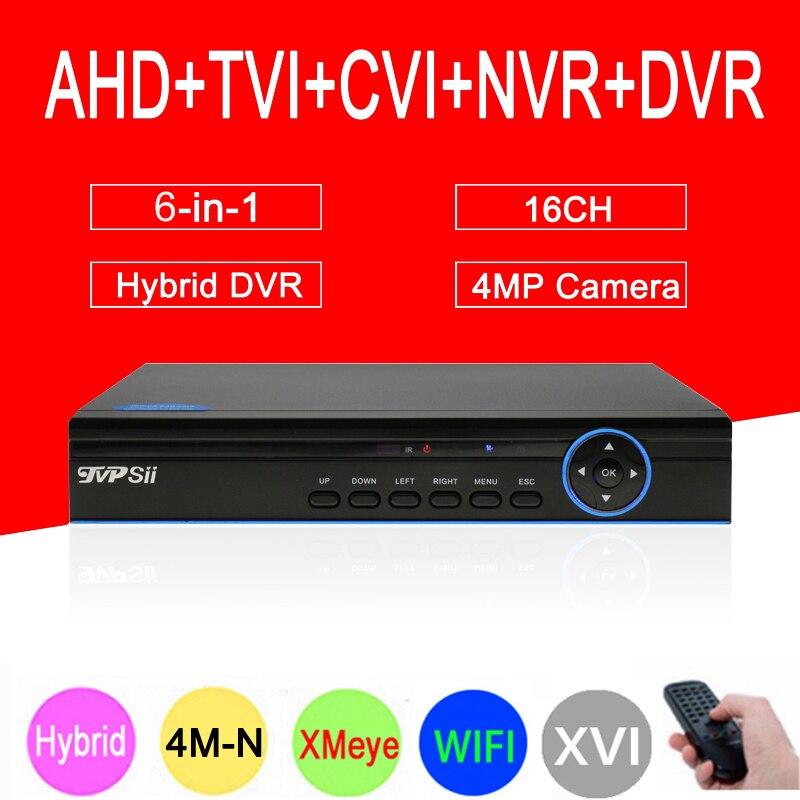 4MP CCTV Camera Blue-Ray 4M-N Hi3521A XMeye 16CH 16 Channel 6 in 1 WIFI Coaxial Hybrid Onvif XVI NVR TVI AHD DVR Free Shipping free shipping 10pcs aod484 d484 n channel fet