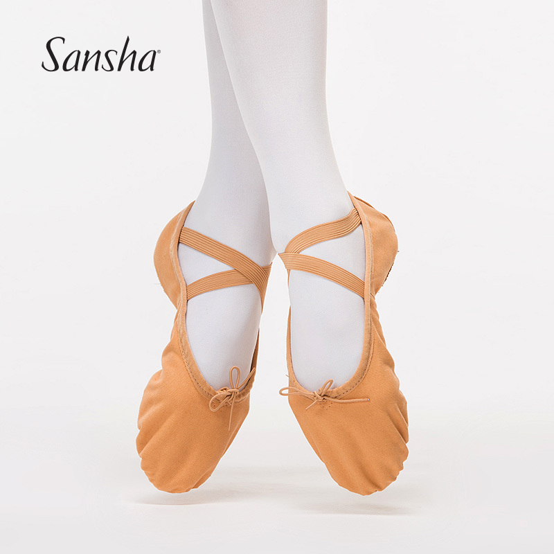 Sansha Adult Canvas Ballet Soft Dance Shoes White Flesh Pink Black  Available Dance Ballet Slippers NO.88C-in Dance shoes from Sports    Entertainment on ... 71df71e06e35