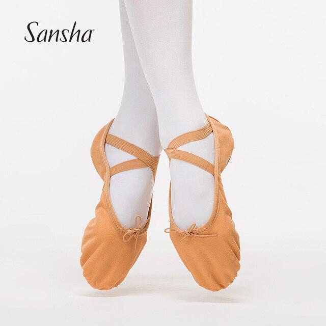 Sansha Adult Canvas Ballet Soft Dance Shoes White Flesh Pink Black  Available Dance Ballet Slippers NO.88C 8107917a0ca