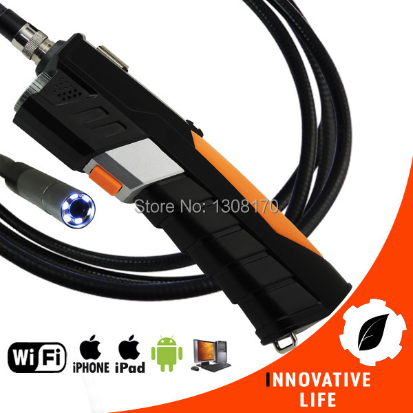 WiFi Inspection 8.5mm Camera Borescope Snakescope Endoscope 3 Meter Flexible Cable HD Waterproof 3M iPad IPhone iOS Android