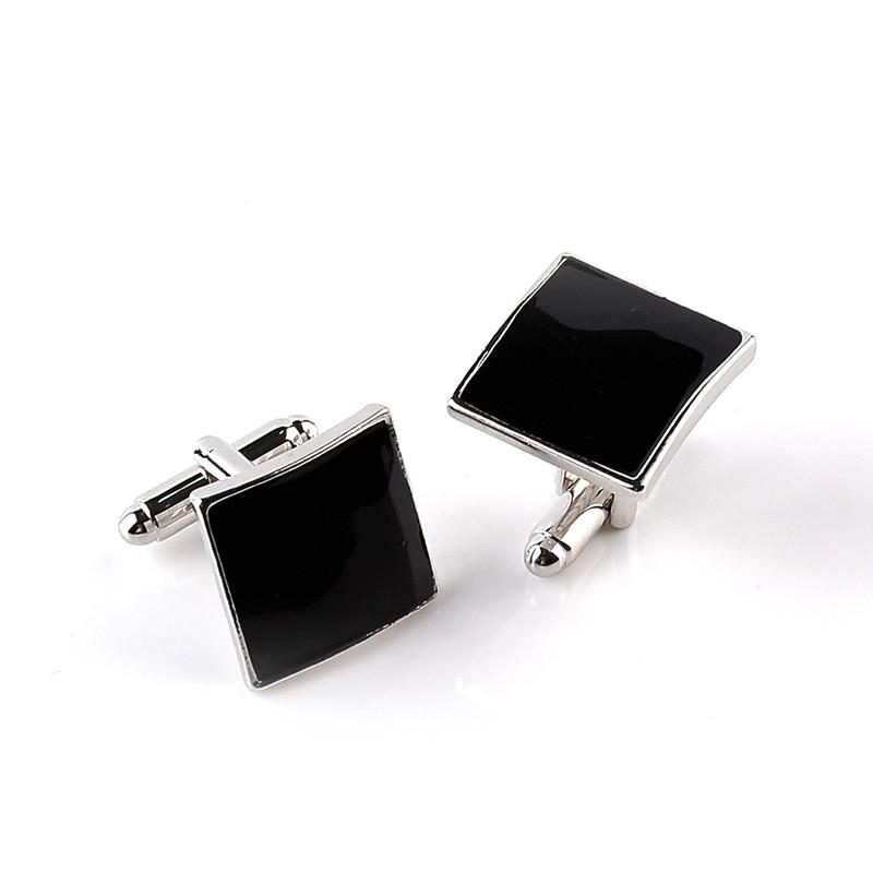 HTB14QgqMVXXXXa3aXXXq6xXFXXX7 - Classic Black Square Quality Cufflinks