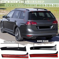 Pair Rear Window Side Spoiler canard canards Splitter Glossy For VW Golf 7 R Variant Wagen 2014 2017 Gloss Black/Carbon Look
