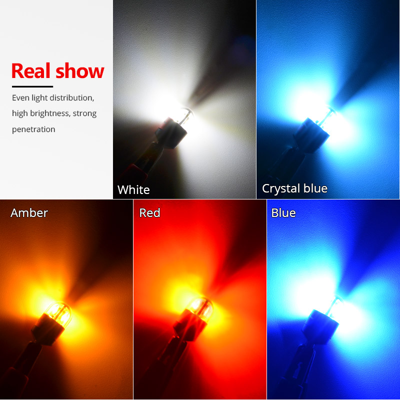 HTB14QgtXbZnBKNjSZFGq6zt3FXaO NAO T10 W5W LED Bulb 3030 SMD 168 194 Car Accessories Clearance Lights Reading lamp Auto 12V White Amber Crystal Blue Red Motor