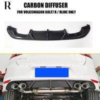 MK7 Carbon Fiber Rear Bumper Diffuser for Golf 7 MK7 R & R line Bumper 2015 2017 (Only Fit R & R line Models, not fit MK7.5 )