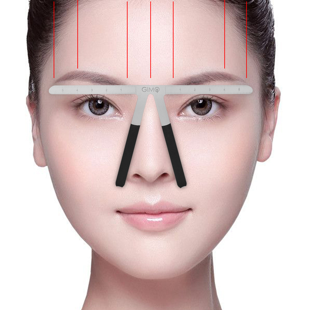 Tattoo Eyebrow Ruler Permanent Makeup Location Extend Shaping Stencil Coametic Beauty Eyebrow DIY Balance Ruler Tattoo Supply