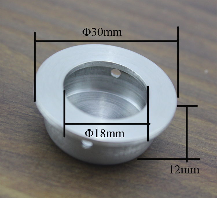 Cabinet Stainless steel 304 Circular Recessed Concealed Handle ...
