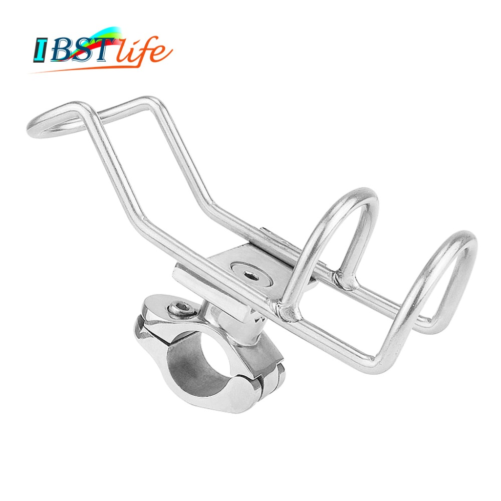 Marine Grade Stainless Steel 316 Fishing Rod Rack Holder Pole Bracket Support Clamp On Rail Mount 26 Or 32mm Boat Accessories