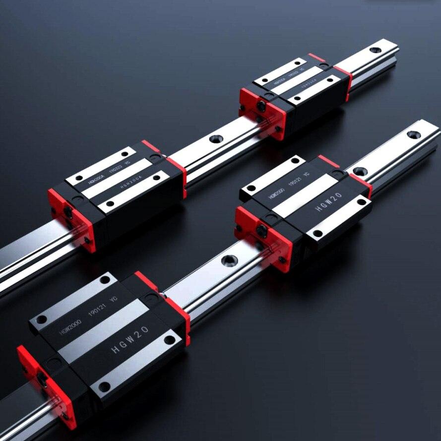 Rail de précision 1PC HGH30 guide linéaire + 2 pièces HGH30CA bloc ou HGW30CC bride bloc L 400 500 600 700 800-1500mm pour CNC - 3