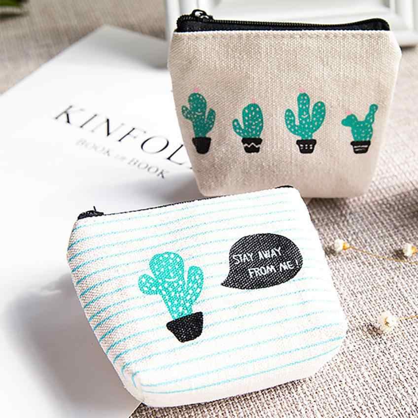 b156276d88fb Detail Feedback Questions about Funny Catus Printing Coin Purse ...