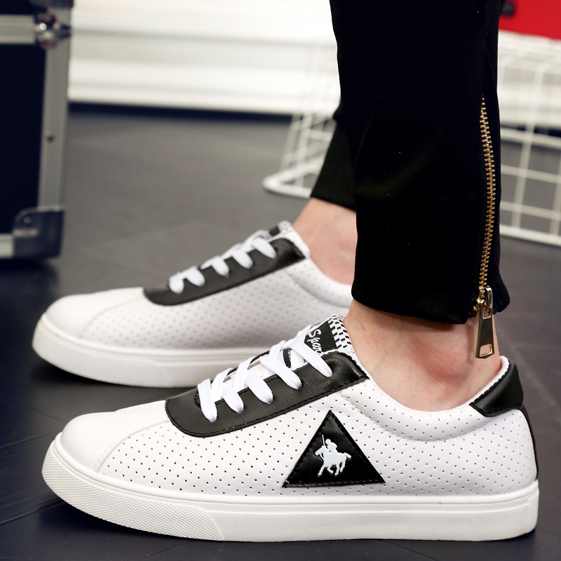 new 2017 mens white color flat casual shoes cool guys hip ...