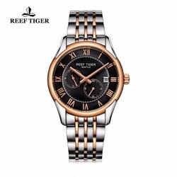 Rafa Tiger/RT biznes zegarki dla mężczyzn automatyczny zegarek różowe złoto ze stali nierdzewnej zegarek z datownikiem RGA165