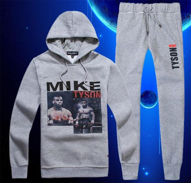 34ea9b14b11b6 Promotion D  Brand Man Mike Tyson Hoodies Boxing Champion Tracksuits  Sportswear Autumn Winter Sport Suit Clothing Set liu 7032
